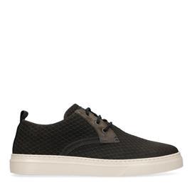 Donkergrijze suède sneakers