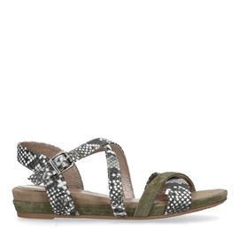 Sandalen met snakeskin