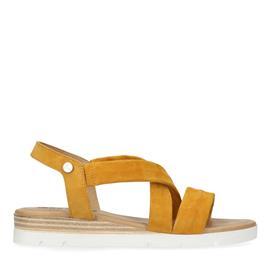 Gele suède sandalen