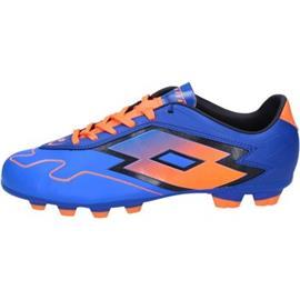 Voetbalschoenen Lotto sneakers da calcio blu pelle arancione BT586