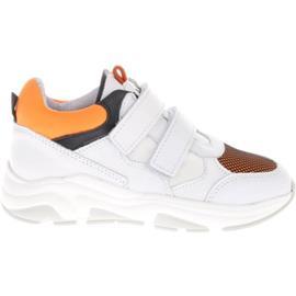 Sneakers Hip Shoe Style HIP H1265 Sneakers Wit Oranje Klittenband