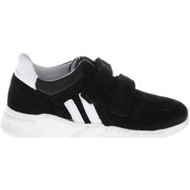 Lage Sneakers Gattino G1295 Zwart Wit Klittenband