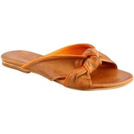 Sandalen Leonardo Shoes PC139 CAPRA CUOIO/ARANCIO