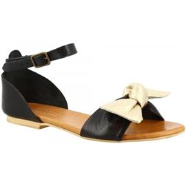 Sandalen Leonardo Shoes PC129 CAPRA NERO ORO