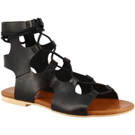 Sandalen Leonardo Shoes PC132 VACCHETTA NERO