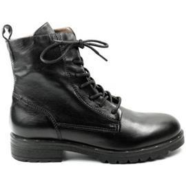 Low Boots Mjus DAMES hoge veterschoen 190201. zwart