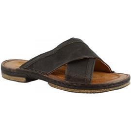 Slippers Leonardo Shoes 434013 NERO/LEGNO