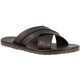 Slippers Leonardo Shoes M6160 VITELLO NERO