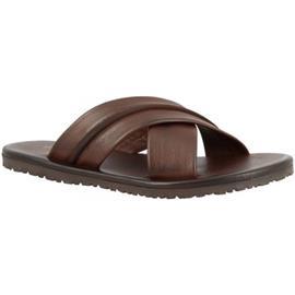 Slippers Leonardo Shoes M6160 VITELLO MARRONE