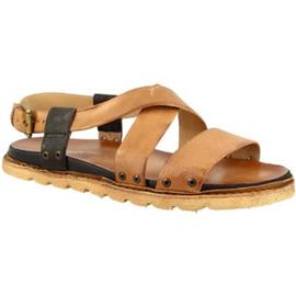 Sandalen Leonardo Shoes 447003 LEGNO NERO