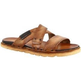 Slippers Leonardo Shoes 447002 LEGNO NERO LEGNO