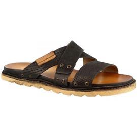 Slippers Leonardo Shoes 447002 NERO LEGNO NERO