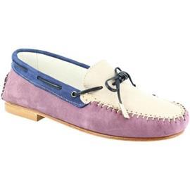 Mocassins Leonardo Shoes 502 NABUK GLICINE GRIGIO BLU