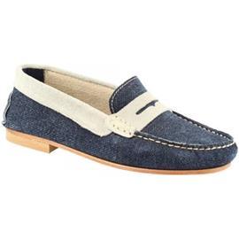 Mocassins Leonardo Shoes 503 NABUK JEANS GRIGIO