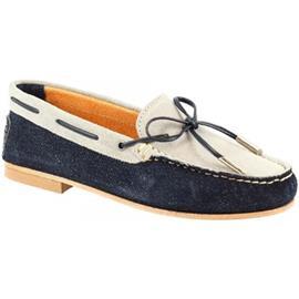 Mocassins Leonardo Shoes 502 JEANS NABUK GRIGIO