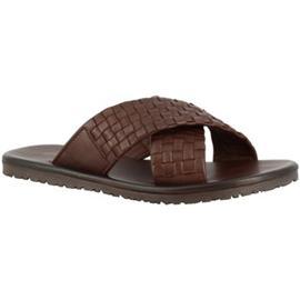 Slippers Leonardo Shoes M5728 MARRONE