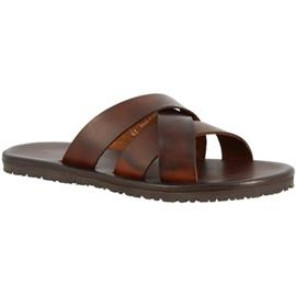 Slippers Leonardo Shoes M6377 MARRONE