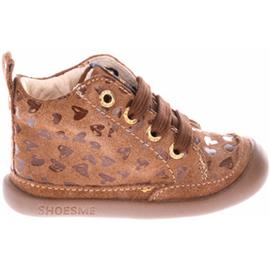 Hoge Sneakers Shoesme BF20Woo5-A Brown Hearts