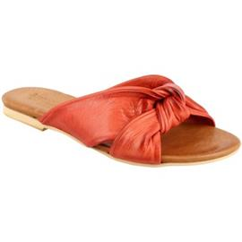 Slippers Leonardo Shoes PC139 CAPRA ROSSO
