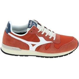 Lage Sneakers Mizuno ML87 Orange Blanc