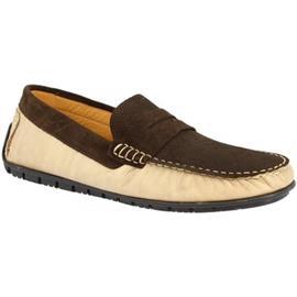 Mocassins Leonardo Shoes 503 VITELLO BEIGE/T. M