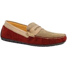 Mocassins Leonardo Shoes 503 CAMOSCIO/VITELLO BORDO