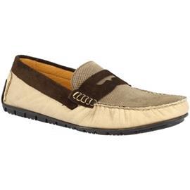 Mocassins Leonardo Shoes 503 TAUPE/MORO