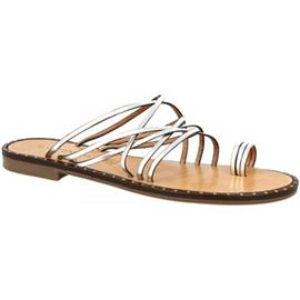 Slippers Leonardo Shoes SIENA ARGENTO