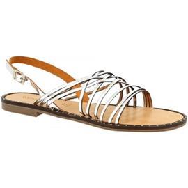Sandalen Leonardo Shoes CAPRI ARGENTO/BEIGE