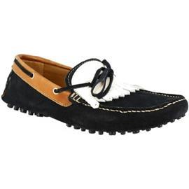 Mocassins Leonardo Shoes 678 CAMOSCIO BLU PIOLINI