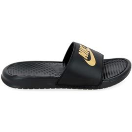 Teenslippers Nike Benassi Noir Or 343880016