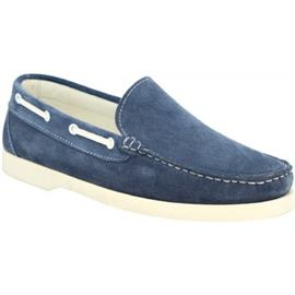 Mocassins Leonardo Shoes C03 CAMOSCIO JEANS