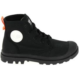 Hoge Sneakers Palladium Pampa Hi Twill Noir