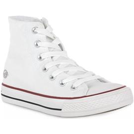 Hoge Sneakers Dockers 500 WEISS CANVAS