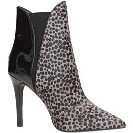 Enkellaarsjes Liu Jo S64133P0145 Ankle Boot Women Grey/Black