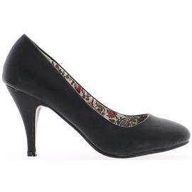 Pumps Chaussmoi Schoenen vrouwen zwarte hak 8, 5cm ronde tips