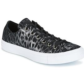Lage Sneakers Converse CHUCK TAYLOR ALL STAR SHIMMER SUEDE OX BLACK/BLACK/WHITE