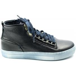 Hoge Sneakers Kanjers JONGENS hoge veterschoen 5317 blauw