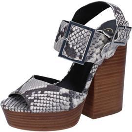 Sandalen Ash sandali grigio pelle pitonata AB630