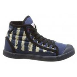 Hoge Sneakers Little Marcel Baskets Samba Up Stripes Bleu