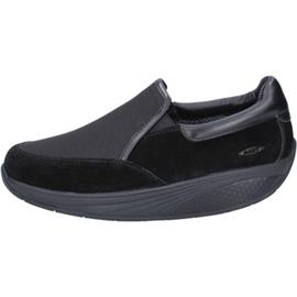 Instappers Mbt slip on nero camoscio tessuto performance BT99