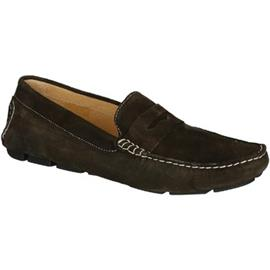 Mocassins Leonardo Shoes 503 CAMOSCIO T MORO TASSELLI