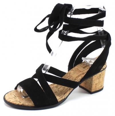 SPM Avocet Cork Sandal Zwart SPM83