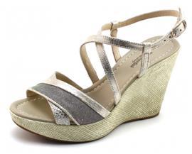 Nero Giardini 17622 sandaal sleehak Zilver NER63