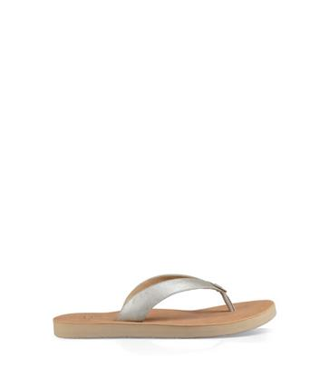 UGG Tawney Metallic Sandalen voor Dames in Rose Gold, maat 36 | Leder
