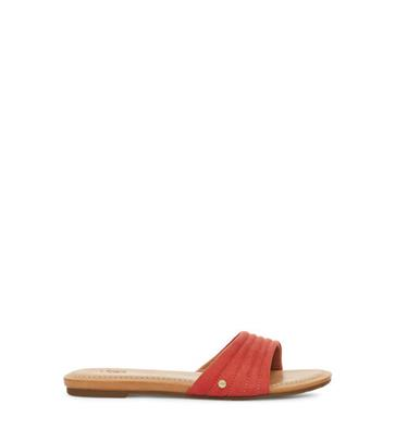 UGG Jurupa Slide Sandalen voor Dames in Pop Coral, maat 36 | Textiel