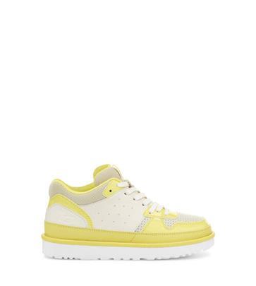 UGG Highland Sneaker voor Dames in White/Sea Salt/Margarita, maat 38 | Synthetisch