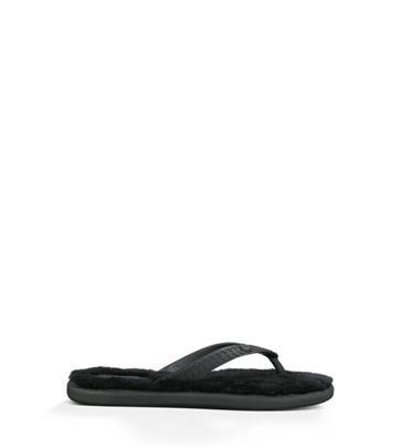 UGG Fluffie Sandalen voor Dames in Black, maat 36 | Shearling/Synthetisch