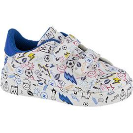 Witte sneaker all over print Bobbi-Shoes