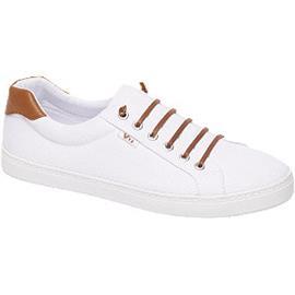 Witte canvas sneaker slip on Vty